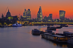 Waterloo Sunrise (City of London, London, United Kingdom) (AndreaPucci) Tags: city london thames sunrise stpaulscathedral waterloobridge canonef24105mmf4lis canoneos60 andreapucci