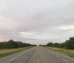 The Road Ahead. Day 172. Rt. 97 south of Reynosa, Mexico. Was a hectic first day getting out of the city, but just ten miles south it's all country. Should be easy, cool walking today. Loved spending my first night camped out in Mexico, so many stars. #Th