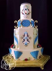 OSSAS 2015 (RebeccaSutterby) Tags: flowers wedding roses cake amazing competition sugar edible overthetop goldleaf elaborate gumpaste 2015 tulsastatefair ossas oklahomastatesugarartshow ezragown