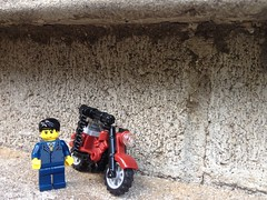 When your daily commute to work gets too hectic (Charlie Ropesocks) Tags: lego ba brickarms figare