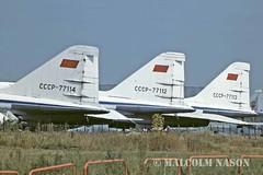 TU144 CCCP-77114, 112, 113 Tails (shanairpic) Tags: sst aeroflot jetairliner tu144 tupolevtu144