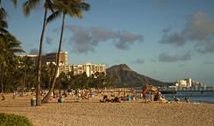 Waikiki Beach (Stephen P. Johnson) Tags: beach hawaii waikiki oahu head places honolulu diamon 201511040076