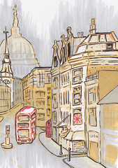 London Sketch (Kate_Lokteva) Tags: england london art english sketch drawing sketchbook marker draw markers artworks letraset promarkers
