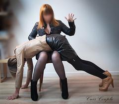 elle_et_lui30 (Cuir Couple) Tags: leather sm mistress leder femdom slave cuir matresse ballbusting soumis