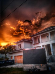 Burning McMansion SkyFire (ThePolaroidGuy [CensoredRestricted]) Tags: sunset sky orange house color colour colors clouds ed construction colours florida outdoor availablelight naturallight edward sarasota drake hdr mcmansion masterphotographer firesky edwarddrake edwarddrakemfa thepolaroidguy