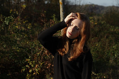 Aurore. (Nicolas Fourny photographie) Tags: autumn portrait cute sexy fall canon 50mm model colours outdoor gorgeous redhead portraiture beautifulwoman redhair beautifulgirl beautifulhair girlportrait 600d womanportrait beautifulcolours