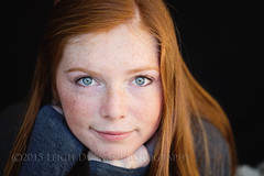 Kelly (scoopsafav) Tags: girls red portrait girl beauty face fashion familyportraits model pretty modeling blueeyes models highschool teen teenager freckles tween redhair preteen familyphotography leighduenasphotography