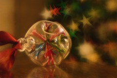 Day 350 Bauble (Clare Pickett) Tags: christmas tree lights star ribbon bauble