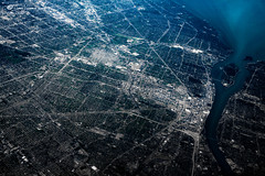 Human beings are a disease, a cancer of this planet. (JakeKieffer) Tags: midwest michigan detroit aerial greatlakes detroitriver lakestclair motorcity