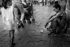 Why? [explored] (BazM:Photog.......:-)) Tags: blancoynegro blackwhite streetscene seville beggar explore innocence streetphoto why capture vagrant younggirl realisation streetcandid streetcapture explored inexplore