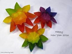 ROXANA by Carmen Sprung (esli24) Tags: origami origamistar carmensprung origamistern origamiblüte esli24 ilsez starroxana flowerroxana
