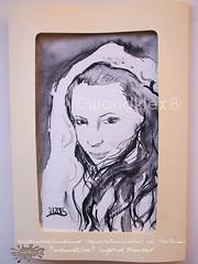 Frau  Westentaschenkunst (wandklex Ingrid Heuser freischaffende Künstlerin) Tags: ingrid watercolor foto etsy comission malerei heuser dawanda auftragsmalerei wandklex