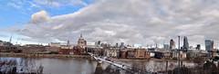 St Paul Panorama (ScottElliottSmithson) Tags: uk england london thames unitedkingdom stpaul milleniumbridge stpaulscathedral londonskyline scottsmithson scottelliottsmithson