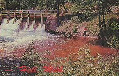 """SE HELL MI 1960s HELL CREEK DAM near USPS POST OFFICE FROM HELL at the Ranch House Grill Cafe and POSTCARD & Souvenir Shop in the Washtenaw & Livingston Area 2-3 (UpNorth Memories - Donald (Don) Harrison) Tags: travel usa heritage history tourism st vintage antique michigan postcard memories restaurants hotels trailer roadside upnorth steamship cafes excursion attractions motels mackinac cottages cabins campgrounds city"""" bridge"""" island"""" """"car upnorthmemories rppc wonders"""" """"big """"railroad """"michigan memories"""" mac"""" """"state parks"""" entertainment"""" """"natural harrison"""" """"roadside ferry"""" """"travel """"don """"tourist """"mackinaw puremichigan stops"""" """"upnorth straits"""" ignace"""""""