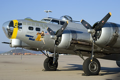 B-17 Flying Fortress at TUS (atg3v) Tags: boeing b17 flyingfortress 4485734 usaaf warbird n390th tus tucson ktus arizona libertybelle wwii aviation usa bomber