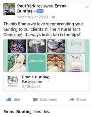Client Review (Emma Bunting) Tags: tipi bunting natural tent company tentipi hertfordshire hire morpeth northumberland