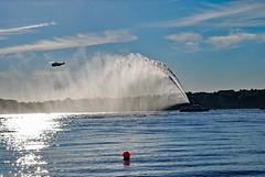 Feuerlschschiff (FrauN.ausD.) Tags: feuerlschboot kiel ostsee hubschrauber firefighting boat helicopter srs fontne fountain deutschland germany water sea wasser