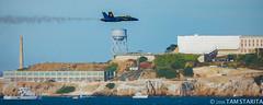 TStarita_20161006-2016_October_BlakeBlueAngelsTwinPeaks_01102.jpg (tamstarita) Tags: blue angels jet alcatraz island san francisco bay area ca california fleet week 2016 landscape