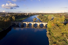 The Bridge of Dee, Aberdeen (iancowe) Tags: bridgeofdee brigodee bridge dee river aberdeen scotland scottish autumn medieval dji drone djiphantom4 aerial