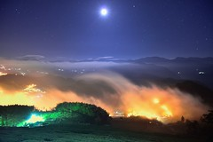 ~~ Moonlight clouds (Shang-fu Dai) Tags:  taiwan     moonlight   clouds sea nikon  alishan xinding fog landscape formosa af20mmf28d d800e  teafarm