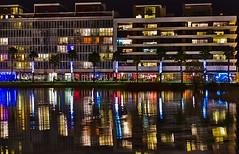 Port Marianne Montpellier (Marc ALMECIJA) Tags: mariane port montpellier urbain nuit night urban street reflets reflections