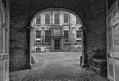 Open Doors- (Martyn.A.Smith) Tags: beltonhousent gates windows court yard outdoors stonework nationaltrust lincolnshire monochrome canon 500d