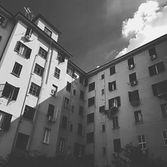 Buildings in the shadow #streetphotography #architecture #structure #geometry #blackandwhite #minimalism #composition #urban #city #wanderlust #travelling #rome (rafacnt14) Tags: instagramapp square squareformat iphoneography uploaded:by=instagram moon