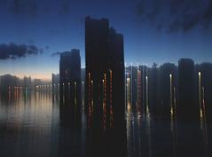 68 (eirelgeuse) Tags: longexposure reflections waterreflections lightreflections light salfordquays
