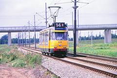 Once upon a time - The Netherlands - Amsterdam Sloterdijk (railasia) Tags: holland noordholland amsterdam sloterdijk gvb routenº14 articulatedmotorcar beijnes infra formerrailwayline eighties