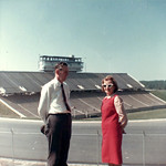 'Bob and Jean Seals at new Carter Stadium Raleigh, NC'; 1966