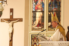 Bishop Athanasius Schneider preaching (Lawrence OP) Tags: blessedkarlofaustria blessedkarl emperor mass beatus bishop athanasiusschneider washingtondc stmarys chinatown pontifical pulpit crucifix sacredheart mitre