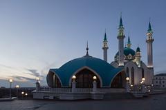 Qolrif Mosque, Kazan Kremlin (Oleg.A) Tags: qolrifmosque autumn sunset mosque street twilight kazankremlin city kazan russia evening tatarstan oldtown qolrifmosque town   respublikatatarstan ru