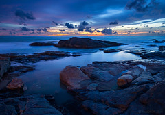 _MG_8443_web - Sunset over rocks (AlexDROP) Tags: 2016 thailand travel color night sea longexposure bluehour canon6d ef16354lis postcard landscape picturesque famous sand rock hdr