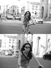 [La Mia Citt][Pedala] (Urca) Tags: milano italia 2016 bicicletta pedalare ciclista ritrattostradale portrait dittico nikondigitale mir bike bicycle biancoenero blackandwhite bn bw 89596
