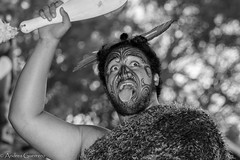 Maori Chief (Andrs Guerrero) Tags: blackandwhite blancoynegro maori mitai mitaivillage newzealand nuevazelanda portrait retrato rotorua