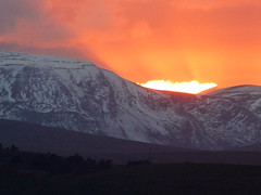 Ben Wyvis Sunset as seen from Culbokie, Ross-Shire, Scotland (David May) Tags: munro rossshire sunset gloaming dramatic snow