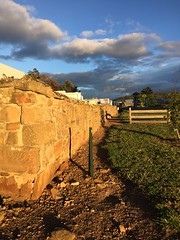 Stone Wall in Oatlands Tasmania