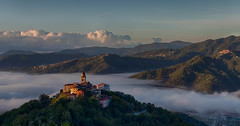 Dawn - Montedivalli Chiesa (Frosty 66) Tags: italy sunrise mountains mist