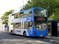 FirstNorwich 36170 - BD11CFP (Zak (Norwich Bus Page)) Tags: firstnorwich blueline routefec25 bd11cfp 36170 volvob9tlwrighteclipsegemini2 2016