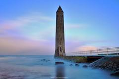 The Chaine Tower Lighthouse (Gerard Joseph Christopher) Tags: ireland irish celtic chaine tower lighthouse larne county antrim seascape sunset belfast lough round