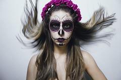 Scream! This is Halloween (some_stuff) Tags: halloween happyhalloween skull mexican darkmakeup hairflip staring darkness