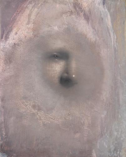 Gavin Tremlett 'Hybris 4', 2016 Charcoal, graphite, oil on wood 50x40cm