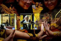 All Hands On Deck (Sean Batten) Tags: millionmaskmarch london england unitedkingdom gb bus person city urban nikon df 50mm hands