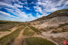 All roads lead to Hoodoos (Kasia Sokulska (KasiaBasic)) Tags: canada alberta badlands drumheller summer landscape fujix rock formations