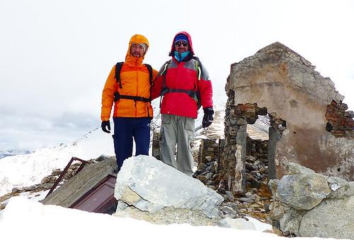 Fabrizio e Andrea al fortino sul Colle Chaberton, 26/10/2016