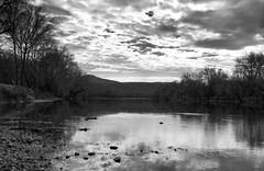 Allegheny River Panorama II _ bw (Joe Josephs: 2,861,655 views - thank you) Tags: westvirginia landscape landscapephotography outdoorphotography alleghenyriver landscapes travelphotography travel water waterreflections rivers river hiking fineartphotography fineartprints americana america waterways waterfront blackandwhitephotography blackandwhite
