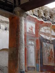 Sacello degli Augustali, Herculaneum - Scavi di Ercolano (Anne O.) Tags: wandmalerei fresko scavidiercolano ercolano herculaneum kampanien italien