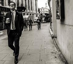 Coffee on Southampton Row (Marek Ziebart) Tags: london londonpeople streetphotography blackandwhite bw creativeangle noiretblanc schwarzundweis enblancoynegro svartochvitt черноеибелое 黑与白 黒と白
