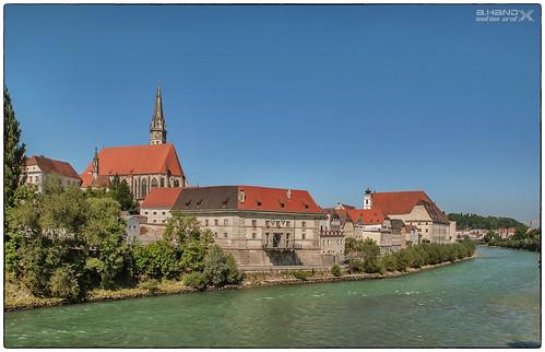 Blick nach Steyr - Altstadt und Enns