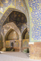 mosaics (paologmb) Tags: pattern mosaic art doors esfahan abstract mystic religion mosque arqitectura leica travel colors architecture allah iran islam